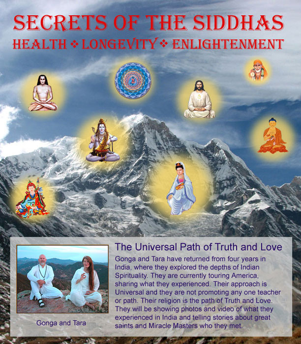 Secrets of the Siddhas flyer